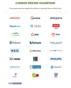 14-10-24-UN Carbon Pricing Champion-list companies
