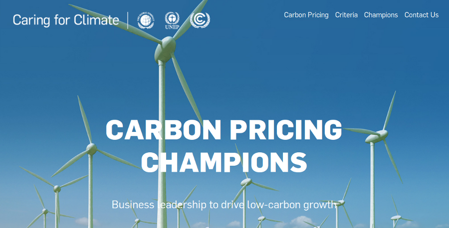 Atmoterra selected by the United Nations to be a Carbon Pricing Champion