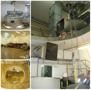 Dismantling work of the 4 storey milk drier inside the facility