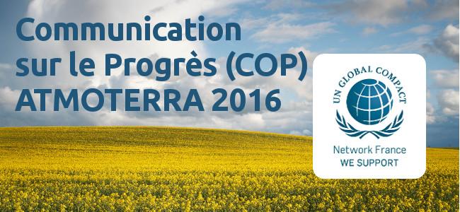 Pacte Mondial: Communication sur le progrès 2016 (COP)