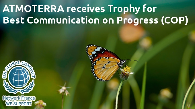 Global Compact : ATMOTERRA receives Trophy for Best Communication on Progress (COP)