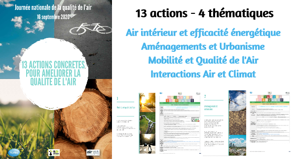 JNQA 2020 – 13 Actions pour améliorer la Qualité de l'Air